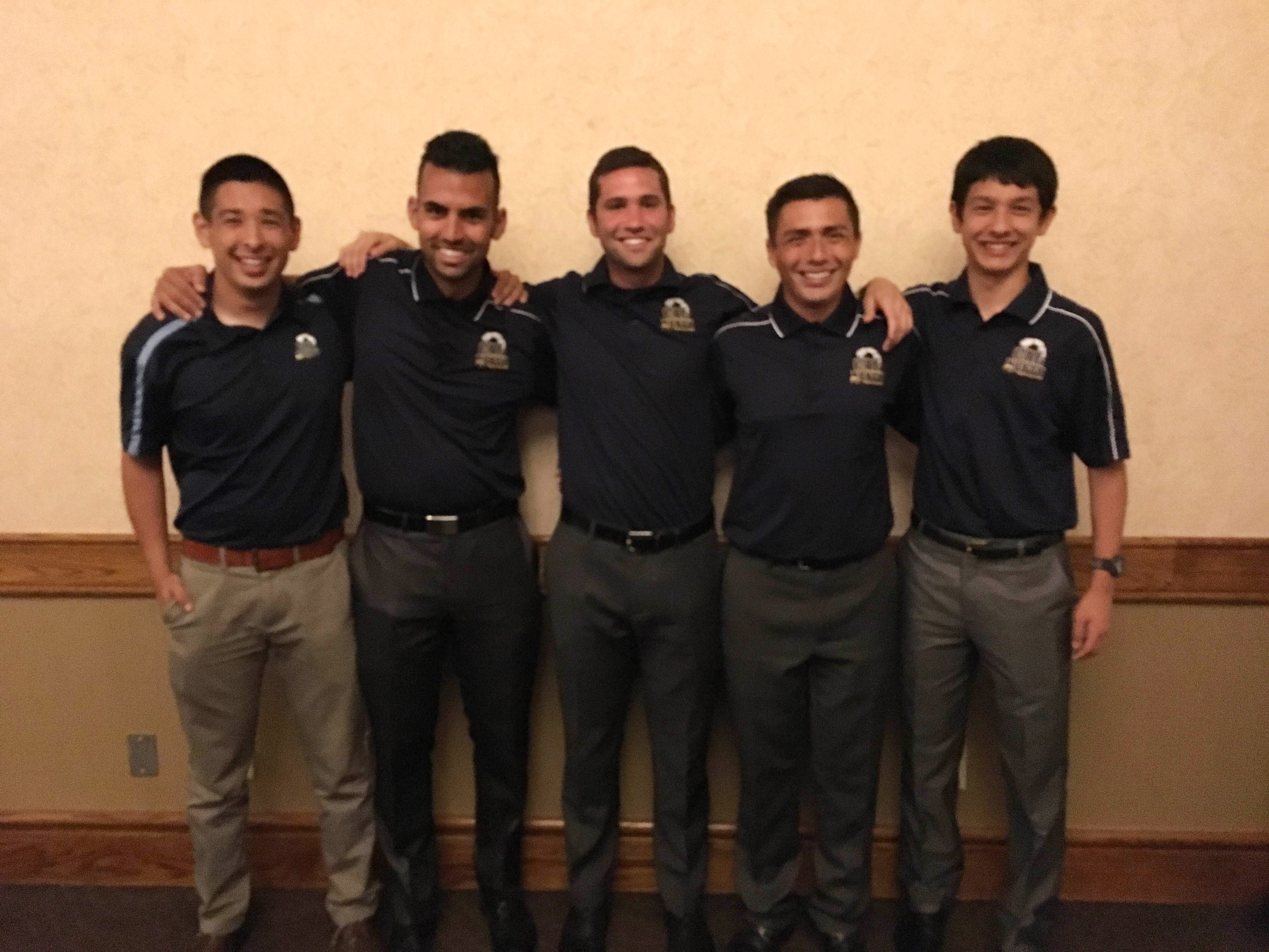 California North Referees (from left to right in the photo): Matt Lanthier, Omeed Azadpour, Mike Welch, Eduardo Zavala, and Michael Lanthier.